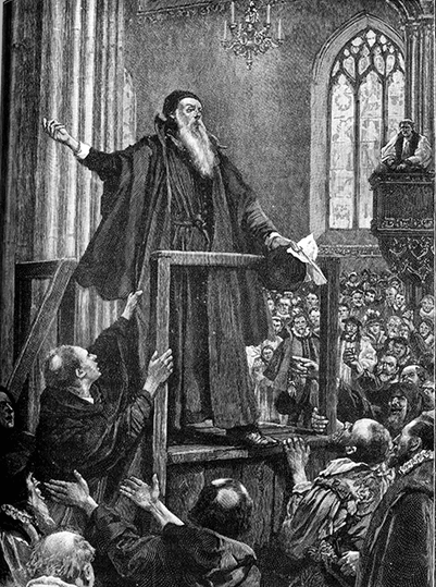 Archbishop Cranmer at St. Mary's, Oxford.