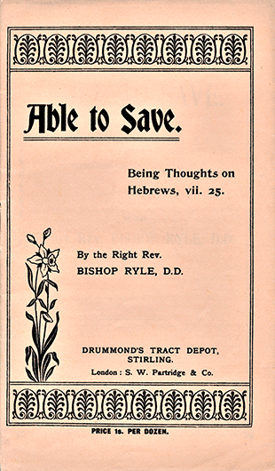 J. C. Ryle tract cover