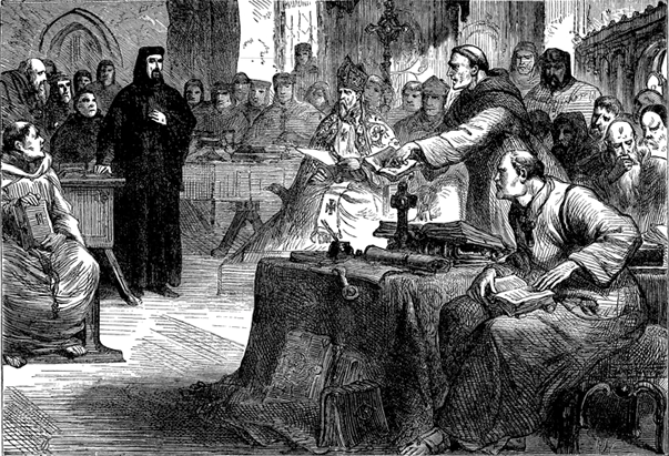 John Wycliffe on trial.